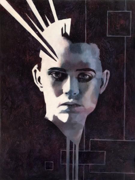 """""""Alex?"""" - Oil and acrylic on canvas, 122x91cm."""