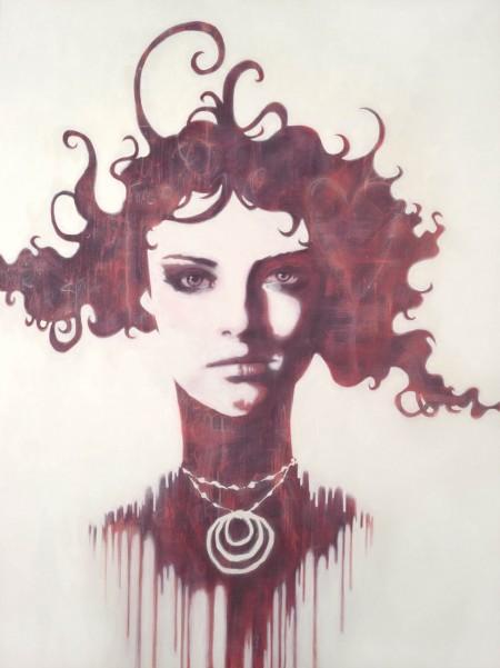 """Alice?"" - Oil and acrylic on canvas, 122x91cm."