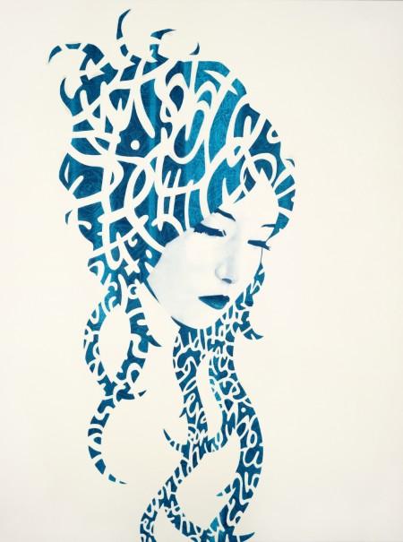 """""""Amy?"""" - Oil and acrylic on canvas, 122x91cm."""