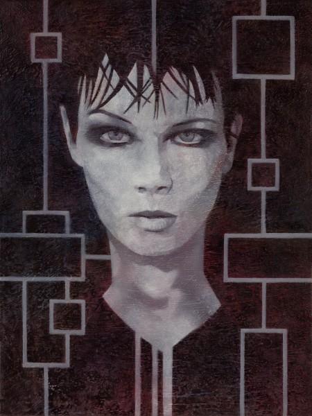 """""""Ash?"""" - Oil and acrylic on canvas, 61x46cm."""