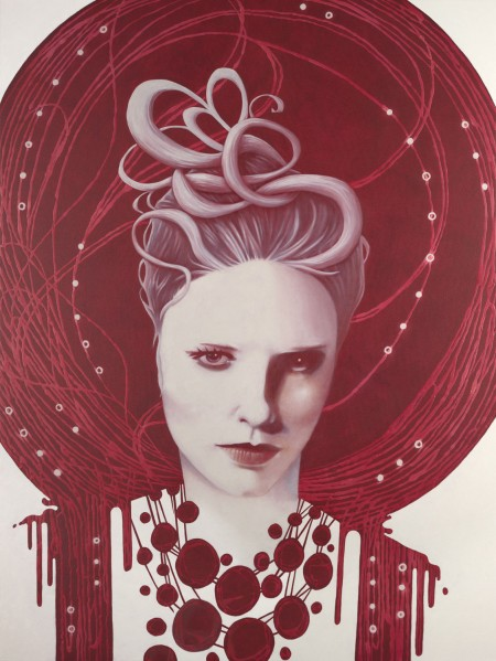 """Ella?"" - Oil and acrylic on canvas, 122x91cm."