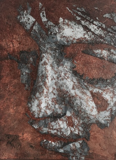 """""""Fragment III"""" - Oil on board, 40x30cm."""