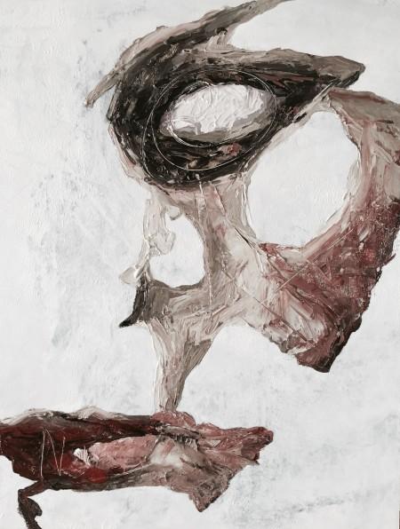 """Fragment XIV"" - Acrylic on board, 40x30cm."