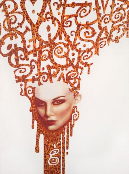 """""""Gem?"""" - Oil and acrylic on canvas, 122x91cm."""