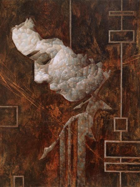 """""""Liz?"""" - Oil and acrylic on canvas, 122x91cm."""