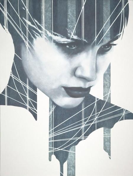 """""""Rachel?"""" - Oil and acrylic on canvas, 122x91cm."""