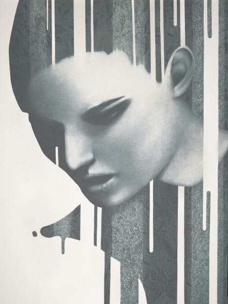 """""""Samantha?"""" - Oil and acrylic on canvas, 122x91cm."""