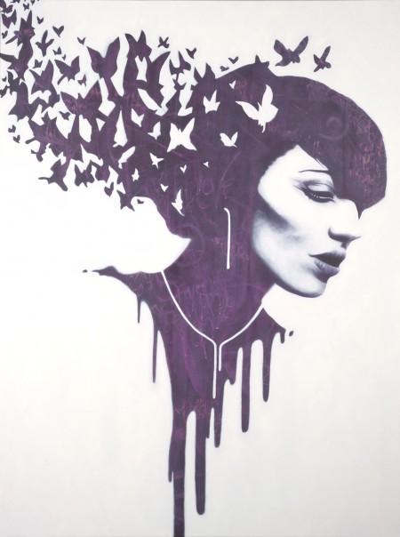 """""""Sofia?"""" - Oil and acrylic on canvas, 122x91cm."""