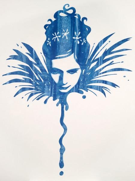 """""""Zoe?"""" - Oil and acrylic on canvas, 122x91cm."""