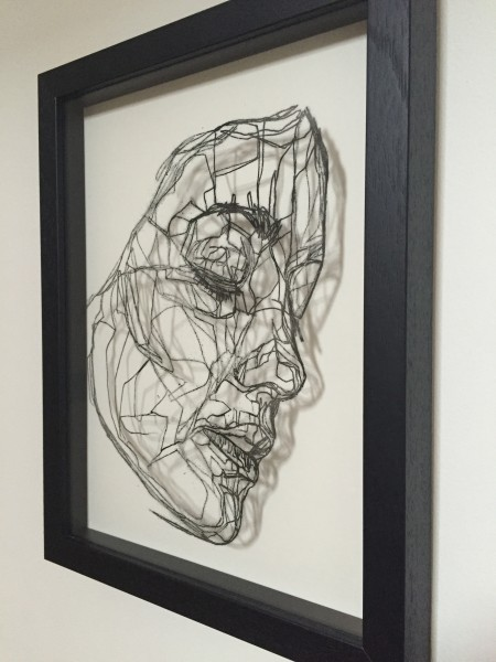 Mark Youd - Cast II - 30x22,5cm - Ink monotype on glass