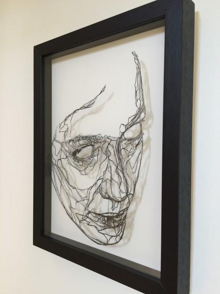 Mark Youd - Cast III - 30x22,5cm - Ink monotype on glass