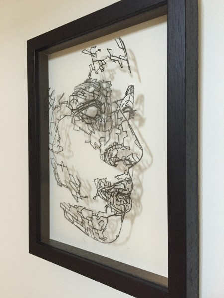 Mark Youd - Cast VII - 30x22,5cm - Ink monotype on glass