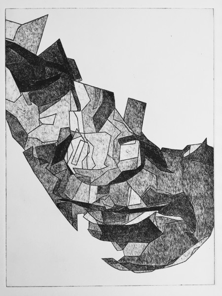 Mark Youd - Study for a Fragment IV - 40x30cm - Etching