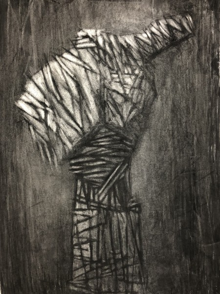 Mark Youd - Figure 1- Charcoal on paper - 76x56cm
