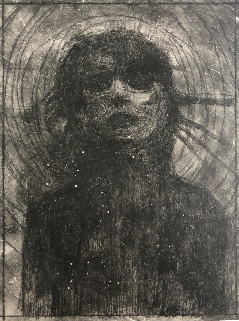 Mark Youd - Starling - Drypoint